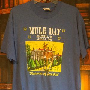 Mule Day T-shirt from Columbia Tennessee 1997